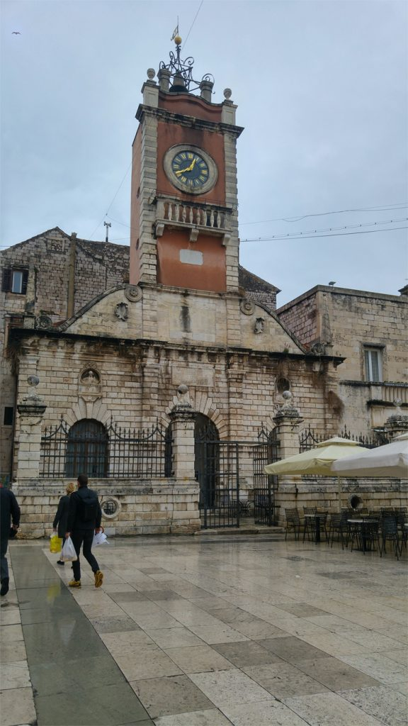 Clock tower in Zadar Old Town