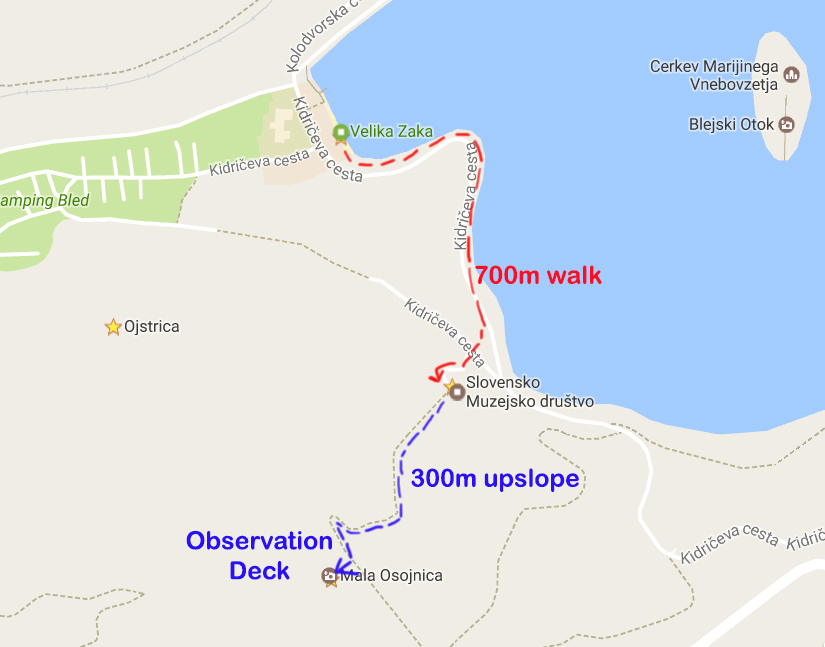 Route to the observatory deck