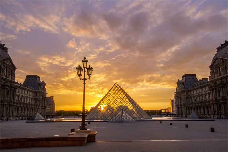 Sunset at the Lourve
