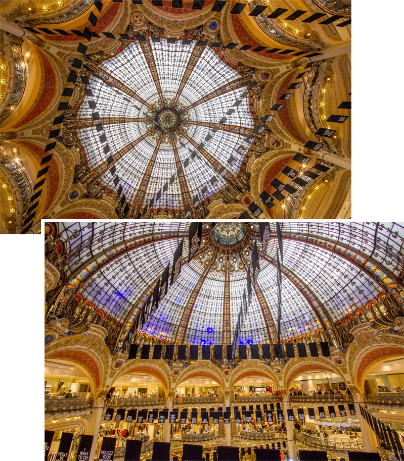 Stained glass dome of Gallerie Lafayette