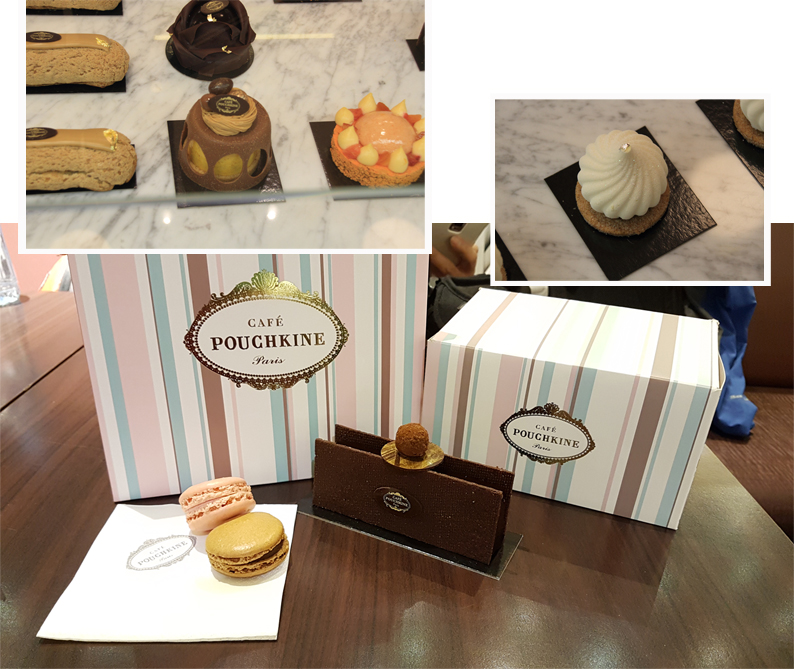 Yummy pastries by Pouchkine Cafe