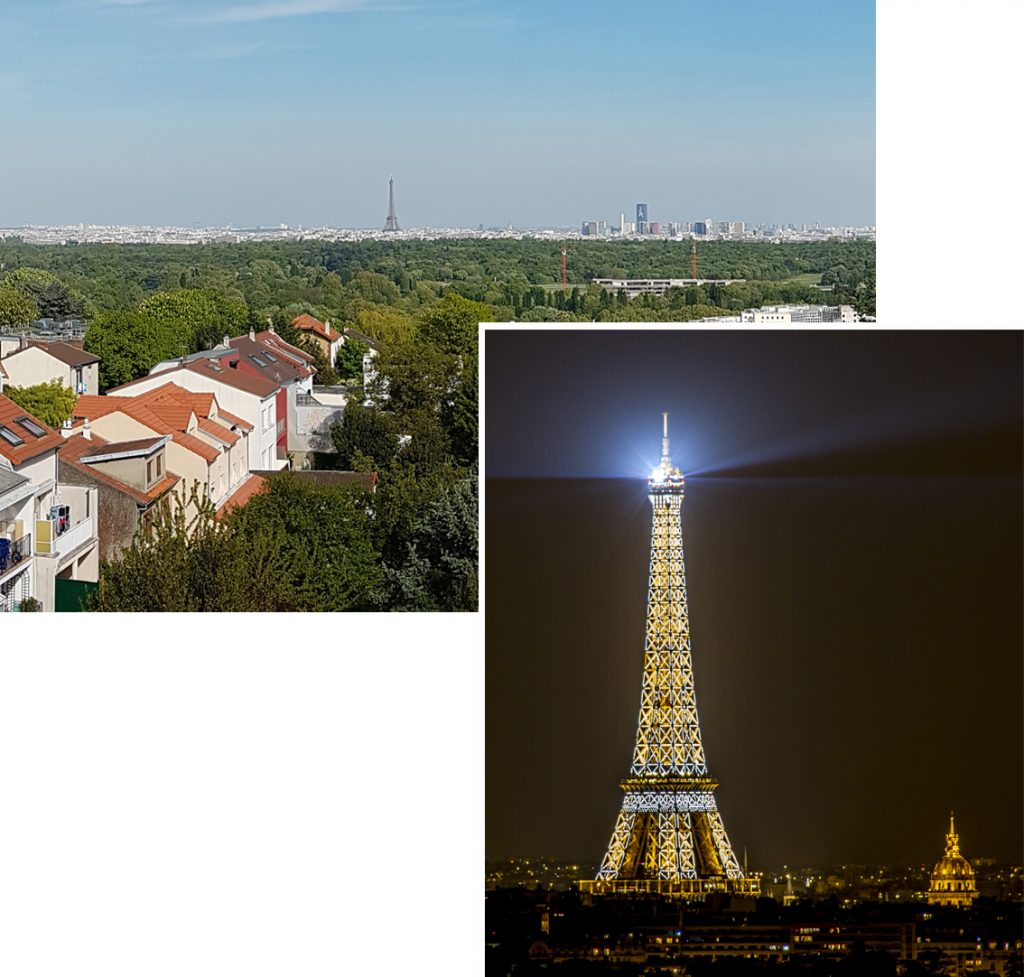 View of Eiffel tower from the 5th floor of Sonia Apartment