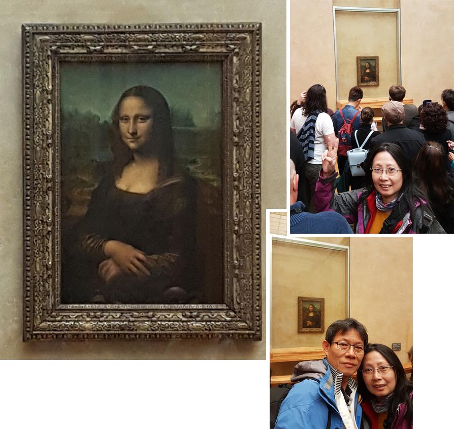 Huge crowd at the Mona Lisa