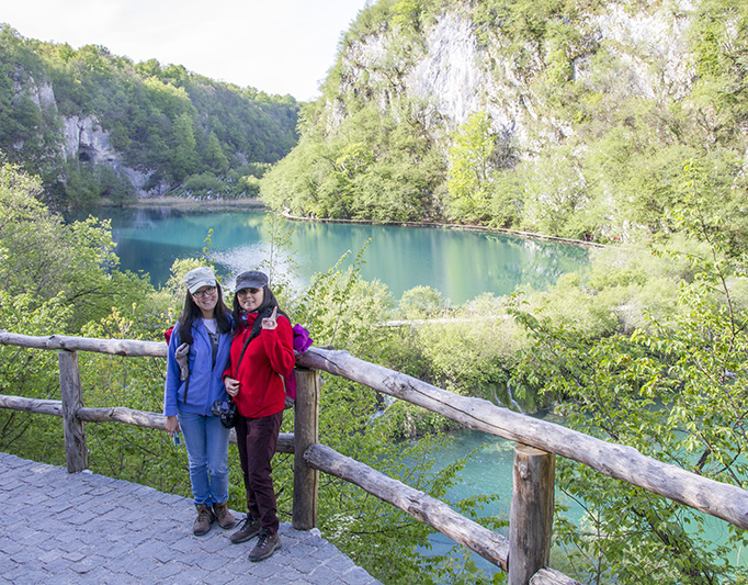 The lower lakes of Plitvice Lakes National Park