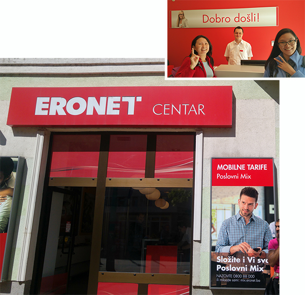 Bought our 5G data sim card at Eronet