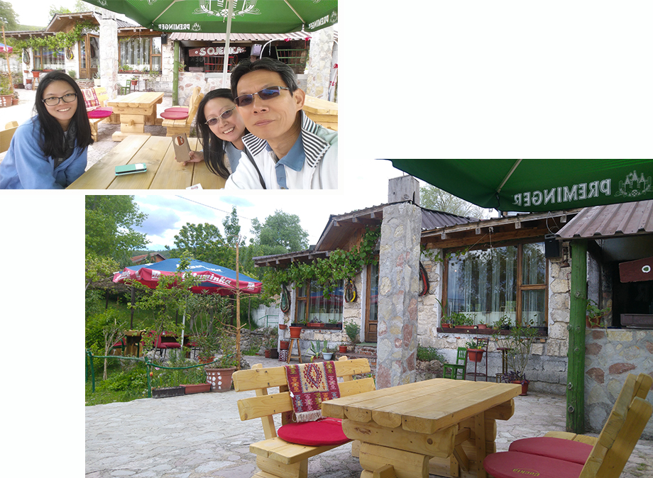 Outdoor terrace of Sojenica Restaurant