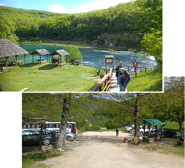 Picnic area and carpark at Strbacki Falls