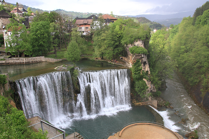 Jajce Fall from view point 1
