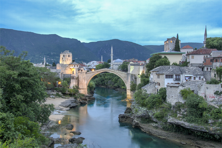 Stari Most at 5.50 am in the morning