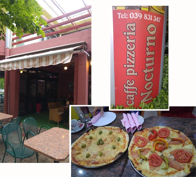 Pizza dinner at Ljubuski