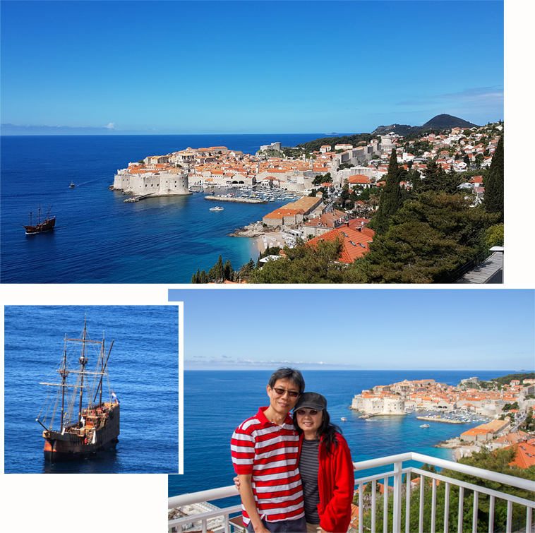 Our last morning at Karmen Apartment overseeing Dubrovnik Old town