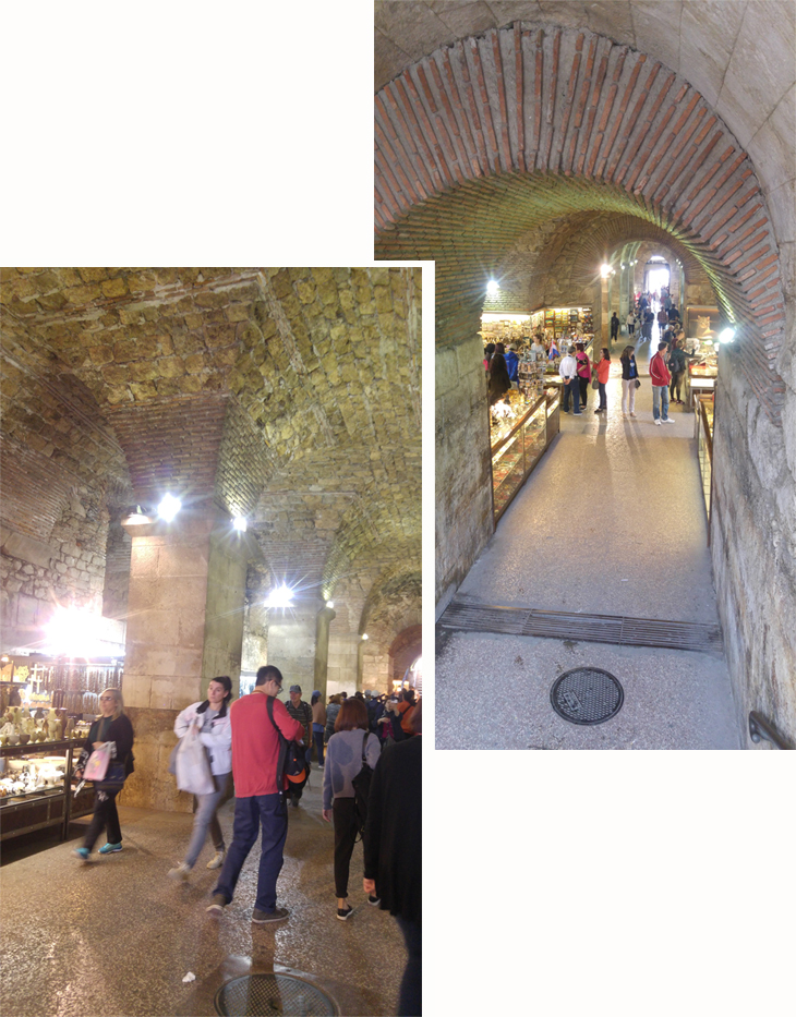 Under ground tunnel of Diocletian's Palace