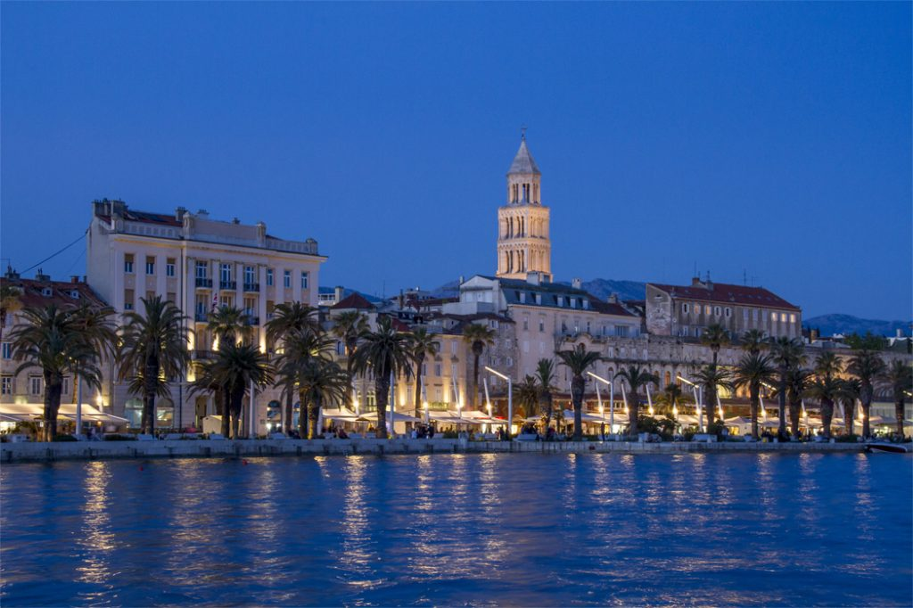 Blue hour at Split Old town