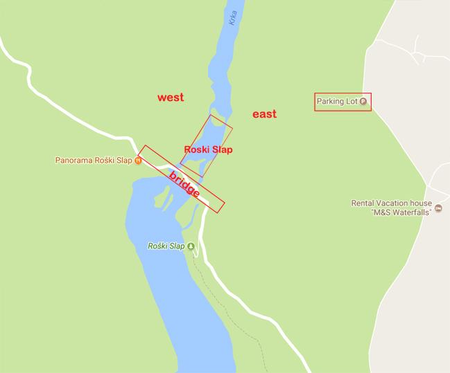 Map near Roski Slap