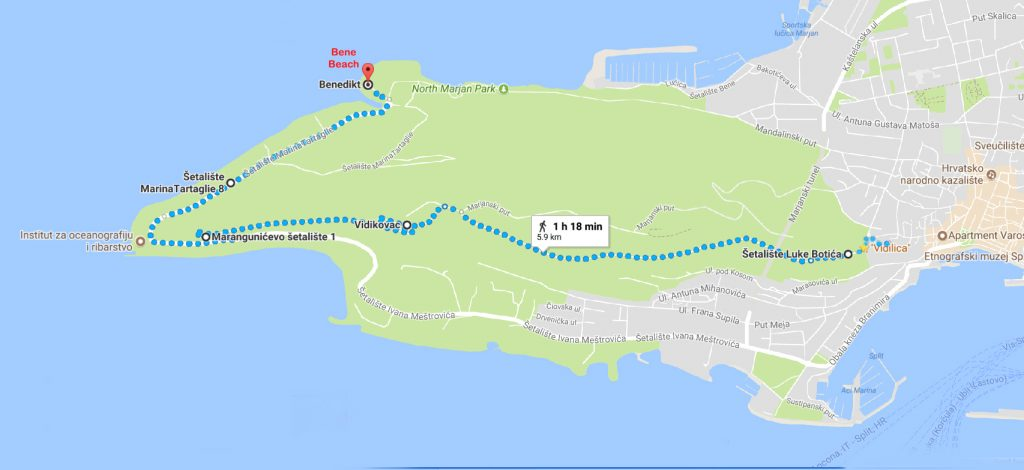 Walking Route for the day