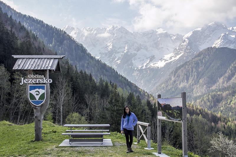 Scenic spot at Obcina Jezersko (co-ords: co-ords:46.406986, 14.526873 ), Kamnik-Savinja Alps in the background