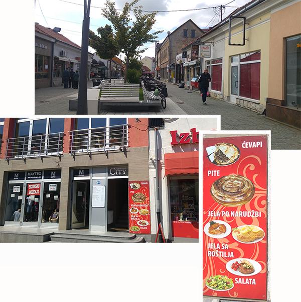 Shops and restaurants along Sultan Ahmedova