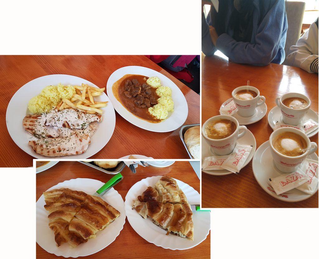 Our heavy breakfast at City restoran at Bugojno