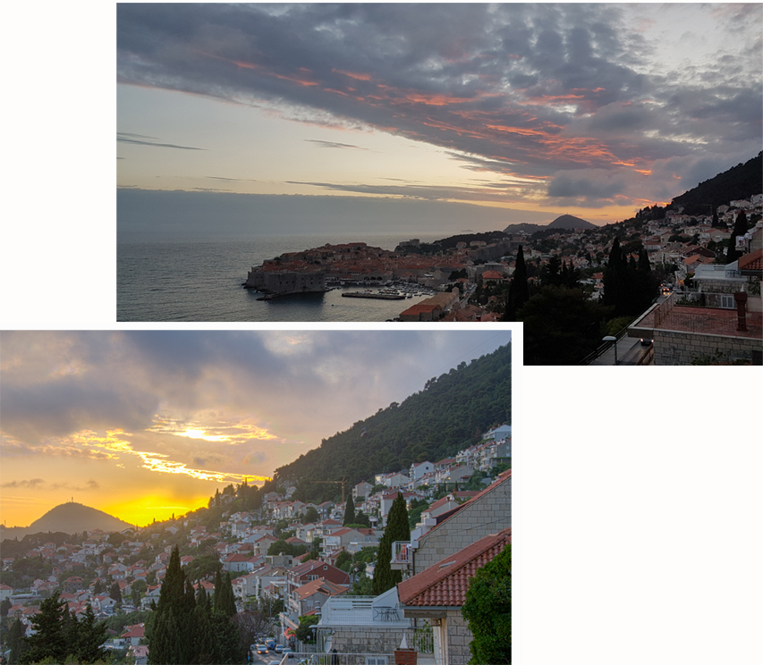 Sunset over Dubrovnik Old City