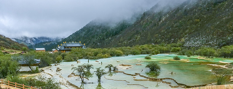 Five-color Lakes 五彩池 (Multi Colored Ponds) of HuangLong Scenic Reserve
