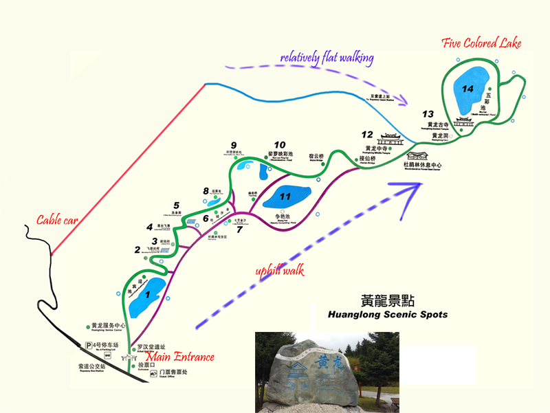 HuangLong Scenic Site Map