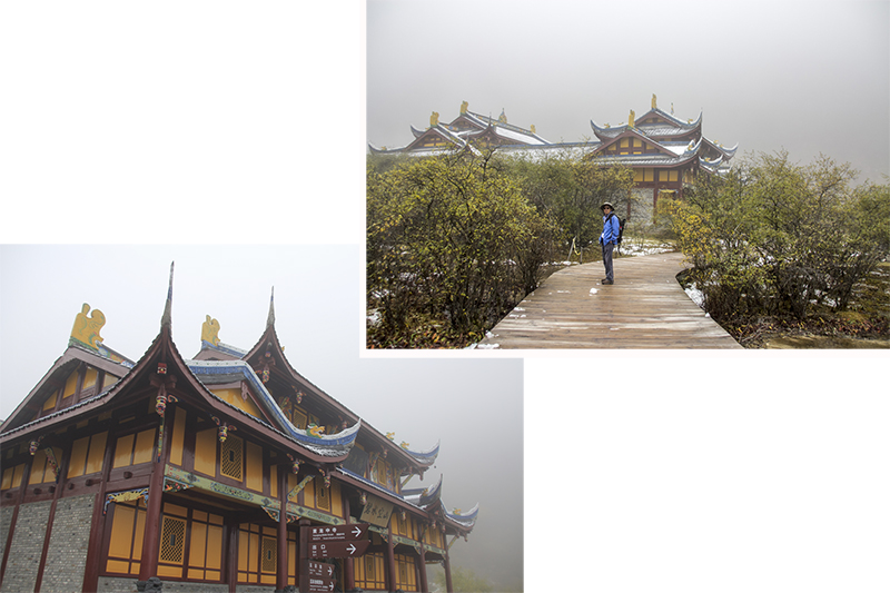 Temple near the summit of HuangLong Scenic Reserve