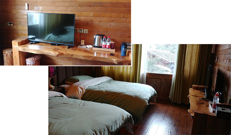 Our twin room at Ajimu Guesthouse
