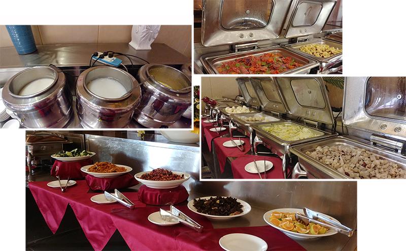Breakfast spread at LiWan Spa Hotel