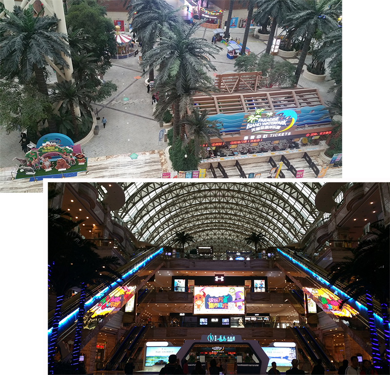 The interior of the malls