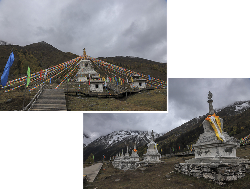 Tibetan Stupas at sightseeing stop 2