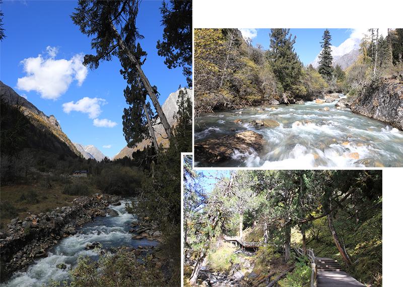 Upstream and downstream scenery on the bridge