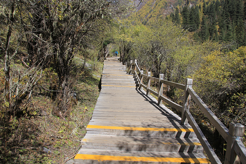 Boardwalk in ChangPing Valley of SiGuNiang
