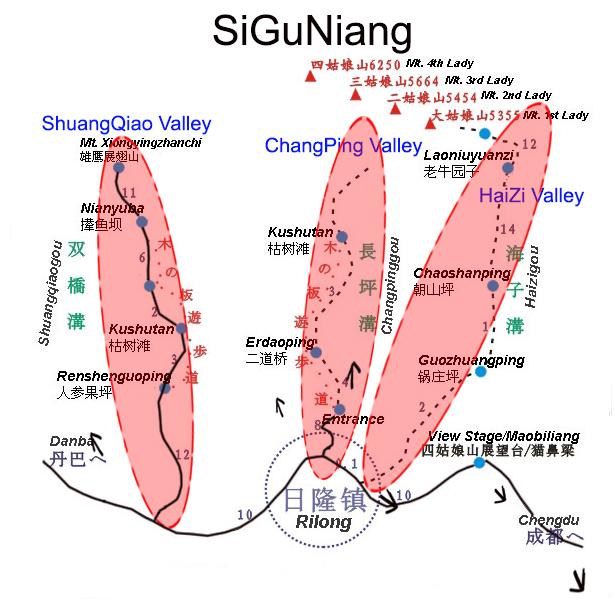 SiGuNiang Map