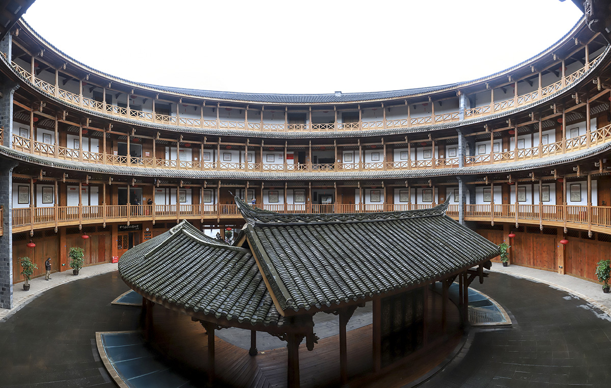 Hakka Tulou as seen from the inside