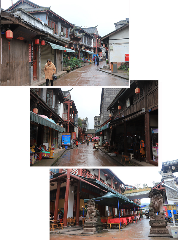 Alley leading to the center of LuoDai Ancient Town