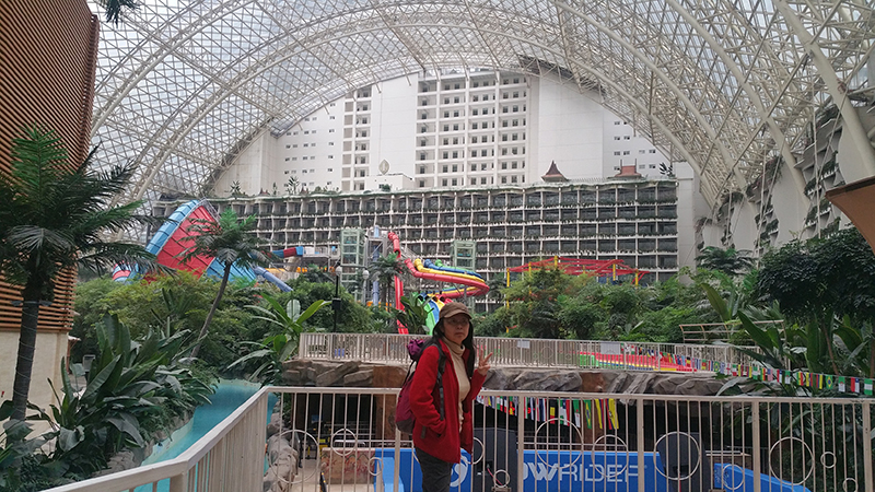 Hotel and water theme park in the mall