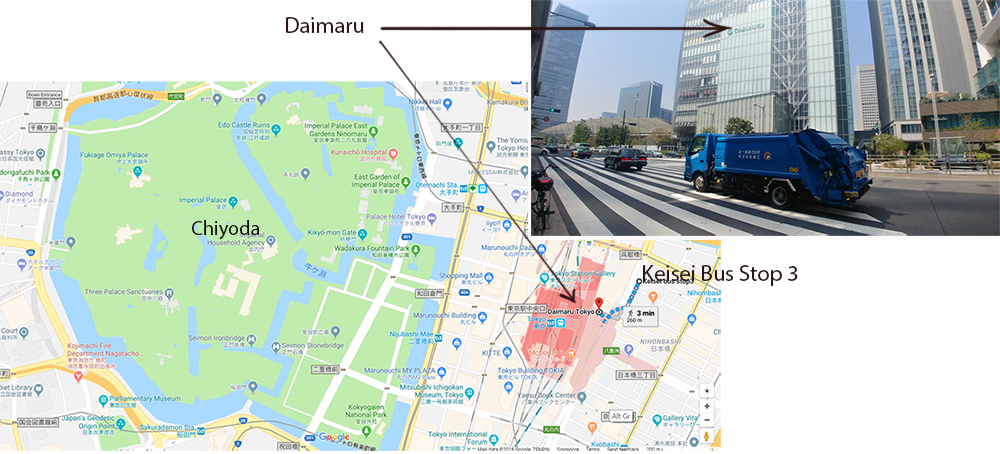 Chiyoda, Tokyo Station and Keisei Bus Stop 3