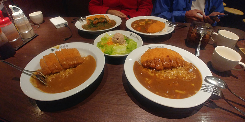 Curry rice with chicken at Coco