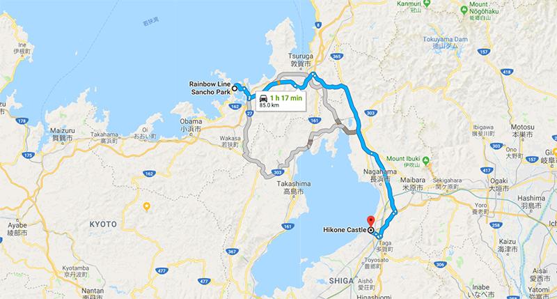 Route to Hikone