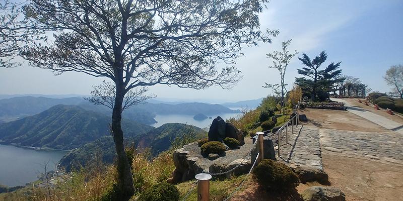 Panoramic view of Mikatagoko and its surrounding