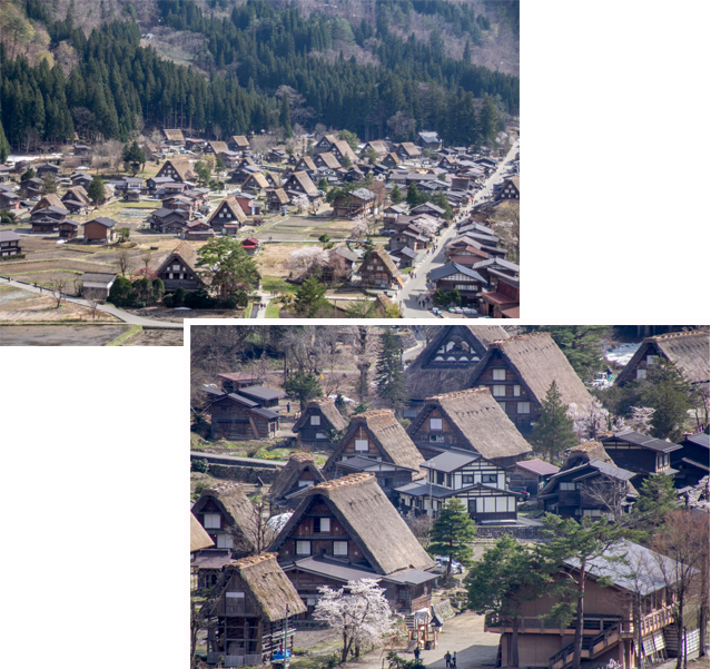 Shirakawago Traditional Village as view from High Observatory