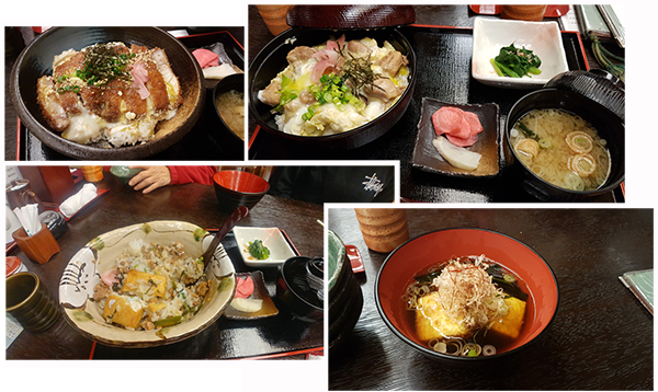 Our delicious meals at Kuroba Hotspring