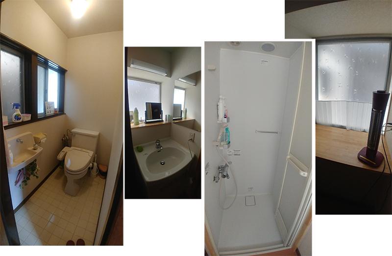 Shower and toilet facilities at Guest House Yamashita YA