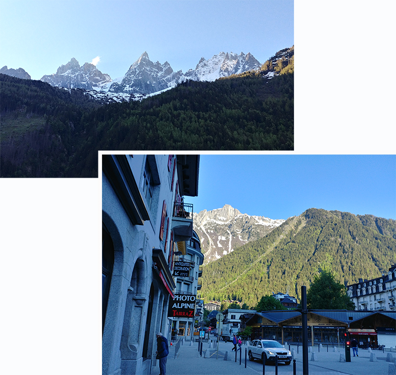 Chamonix Town at 8.30 am