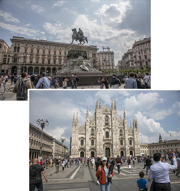 Vittorio Emanuele II Monument & Milan Duomo