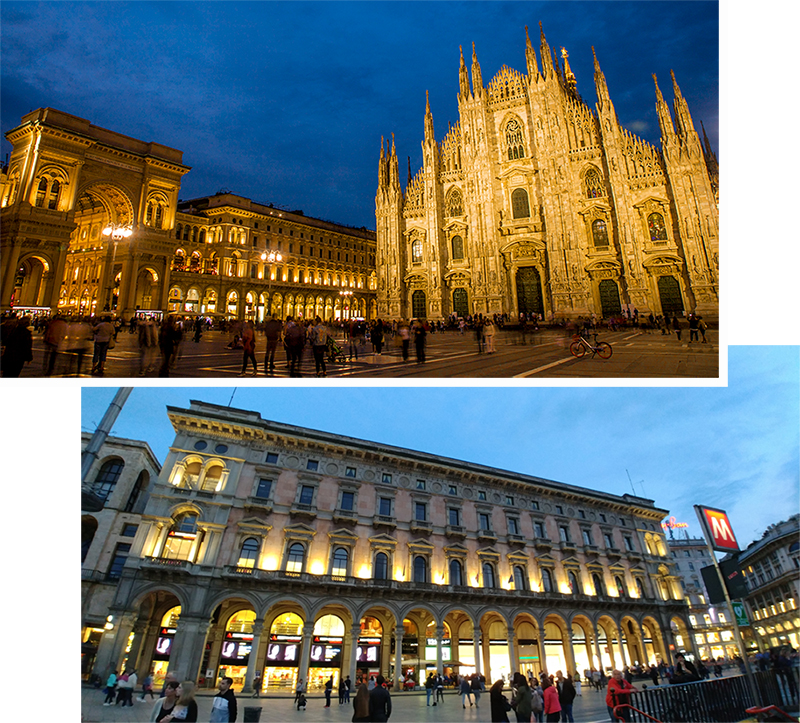 Milan Duomo and its surrounding