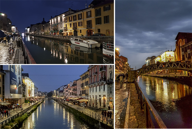 Naviglio Pavese in the evening (co-ords : 45.450989, 9.177654)