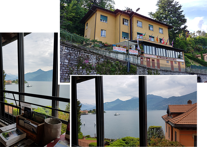 Grand view of Lake Como from the Youth Hostel