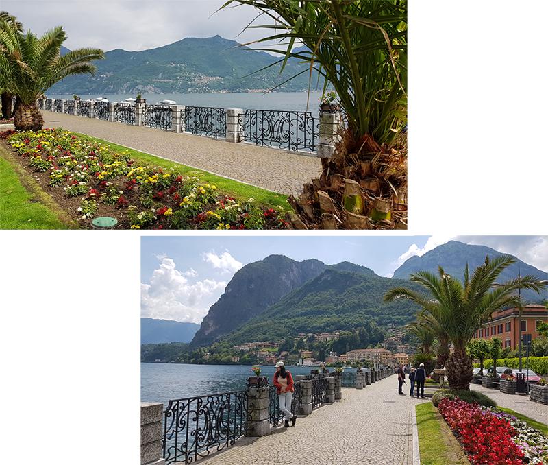 Menaggio harbour front/promenade