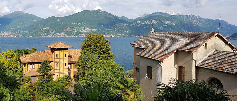 View of the Lake from our room at Lake Como Peace Lodge